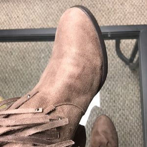Not Rated Shoes - Fringe tan Ankle Bootie